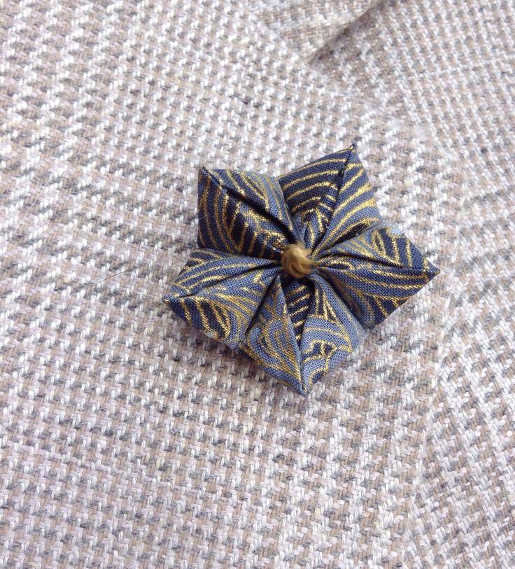Mens Lapel Pin Flower Lapel Pin Kanzashi Pin Blue Lapel Flower Blue Boutonniere Chinese  Bellflower Custom Lapel Pins Men Gifts For Men by exquisitelapel on Etsy https://www.etsy.com/listing/470760645/mens-lapel-pin-flower-lapel-pin-kanzashi