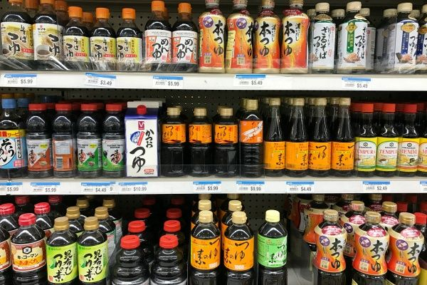 Mentsuyu at Japanese grocery store