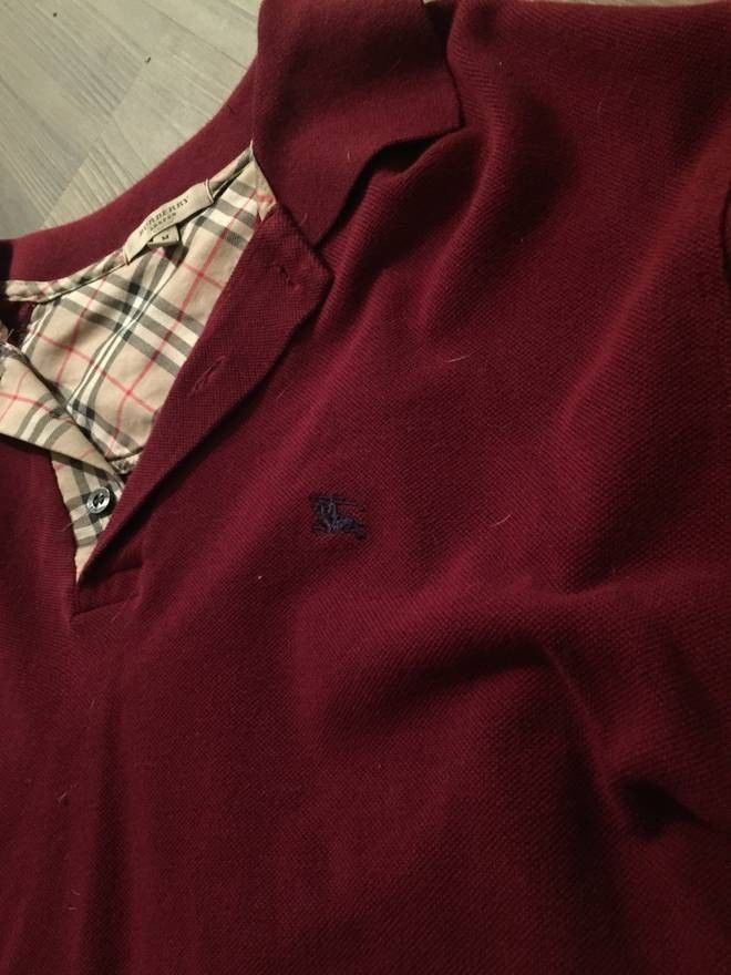 781a01059 New Authentic Burberry Long Sleeve Polo Shirt - M #fashion #clothing #shoes  #accessories #mensclothing #shirts (ebay link)