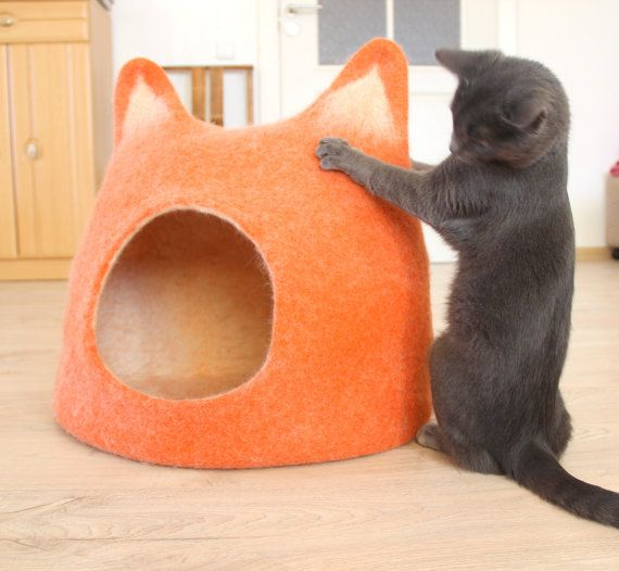 Pet houses  Cat bed  cat cave  cat house  от AgnesFelt на Etsy