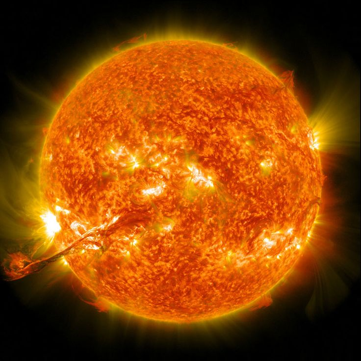 On August 31, 2012 a long filament of solar material that had been hovering in the sun's atmosphere, the corona, erupted out into space at 4:36 p.m. EDT. The coronal mass ejection, or CME, traveled at over 900 miles per second. The CME did not travel directly toward Earth, but did connect with Earth's magnetic environment, or magnetosphere, causing aurora to appear on the night of Monday, September 3. (source: NASA)