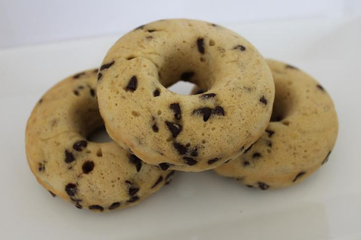 Baked chocolate chip banana doughnuts