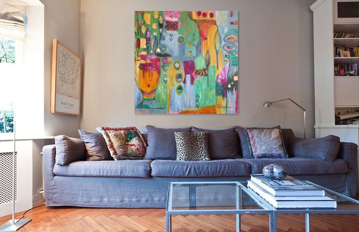 """My new painting """"A Life Less Ordinary"""". 120cm x 120cm Acrylic on canvas with gold leaf."""