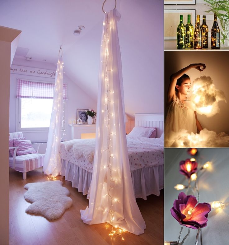 10 Amazing String Lights DIY Decorating Ideas  - http://www.amazinginteriordesign.com/10-amazing-string-lights-diy-decorating-ideas/