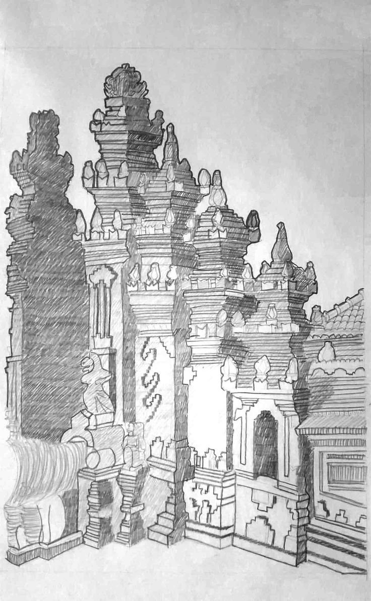 Redrawing of The Temple 3