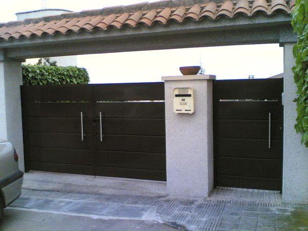 Las 25 mejores ideas sobre puertas met licas en pinterest for Puertas metalicas para patio