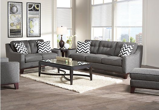 Shop For A Cindy Crawford Home Hadly Gray 7 Pc Living Room