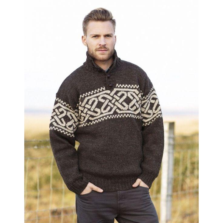 Ирландские свитера, коричневый свитер, ирландский шерстяной свитер, воля