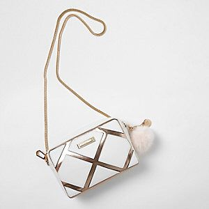 Metallic Paneled Chain Crossbody Bag from River Island R440,00