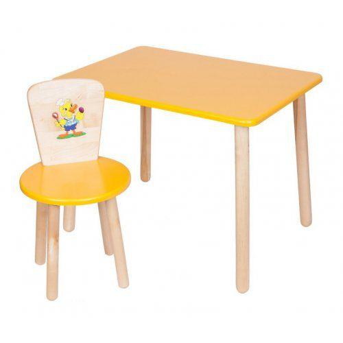 Столик и стульчик РусЭкоМебель Набор №1: Стол Большой 70*50 ЭКО+Стул Круглый ЭКО