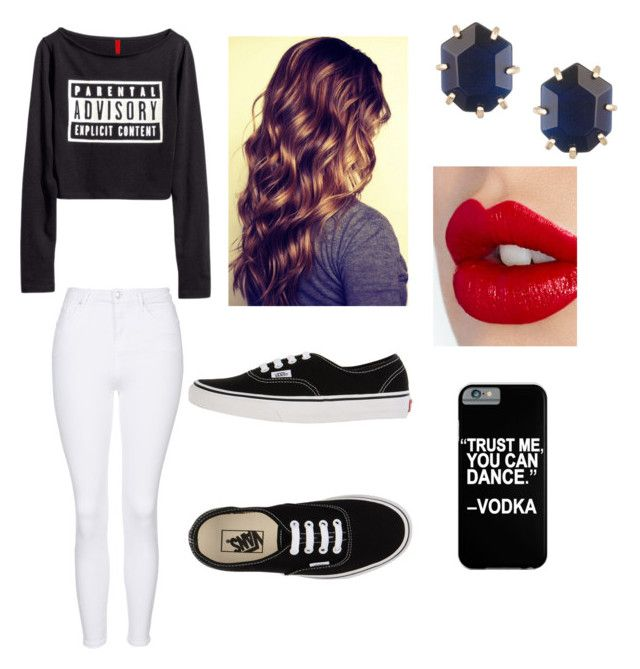 """""""BAE"""" by kamiprince2012 ❤ liked on Polyvore featuring Topshop, Vans, Charlotte Tilbury and Kendra Scott"""