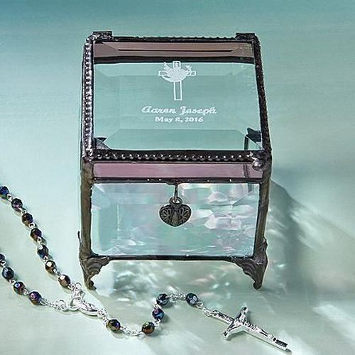 Glass Blessings Box   Confirmation Gifts For Girls