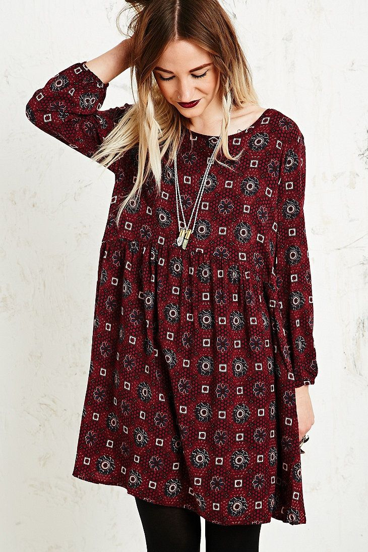 Loose Comfy Dress ... with tights and boots