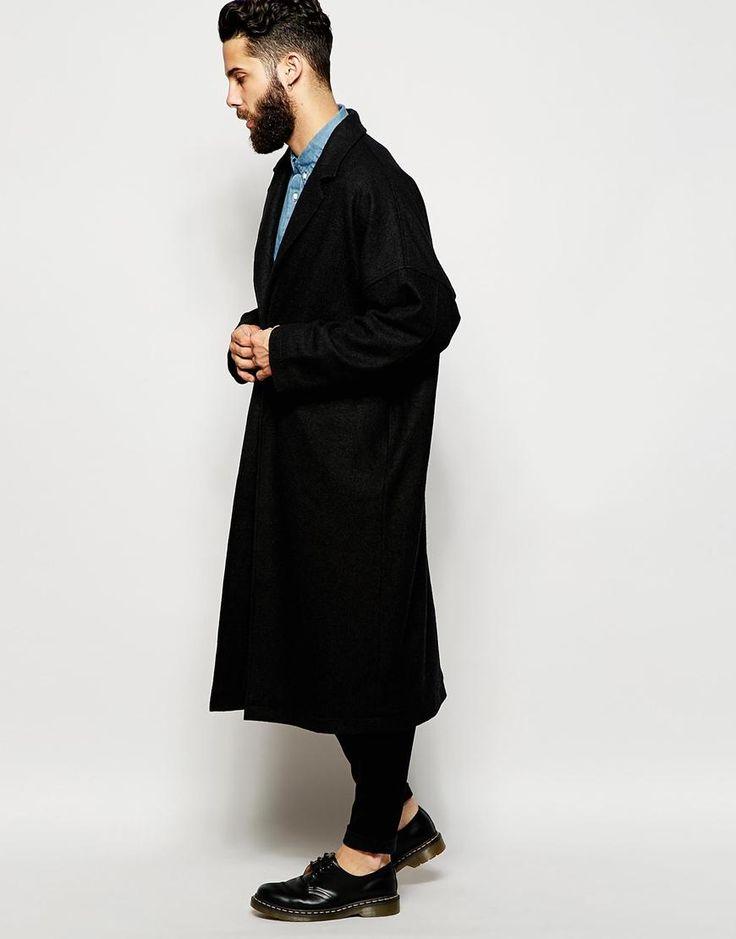 ASOS   ASOS Duster Coat In Black at ASOS