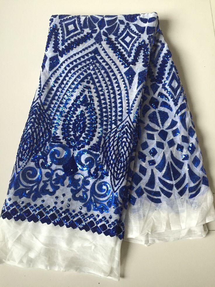 L'arrivée de nouveaux ROYAL BLUE mesh dentelle tissu paillettes chimique dentelle tissu paillette tissu pour robe de mariée dans Tissu de Maison & Jardin sur AliExpress.com | Alibaba Group