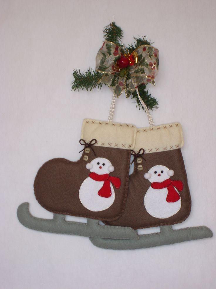 @Natale,decori feltro e pannolenci, ice skatting,pattini da ghiaccio