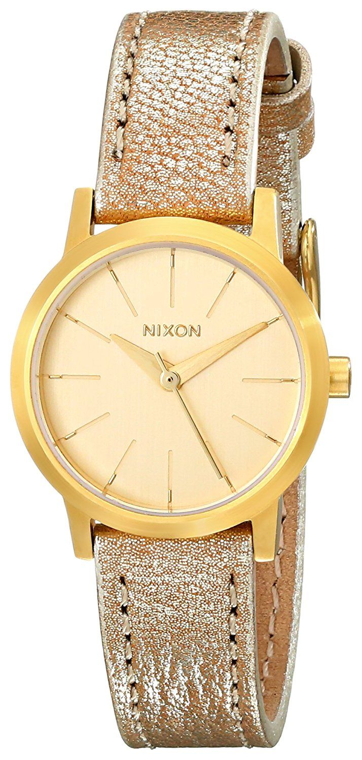 Nixon Women's Kenzi Stainless Steel Watch with Leather Band ** For more information, visit image link.
