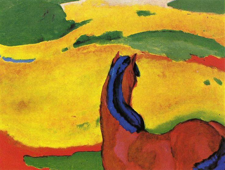 Франц Марк «Лошадь в пейзаже»