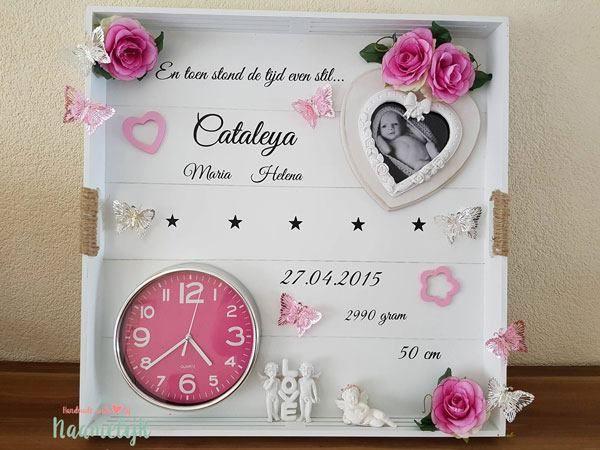 Prachtig geboortebord van Cataleya. Eenvoudig zelf te maken met een stickerset…