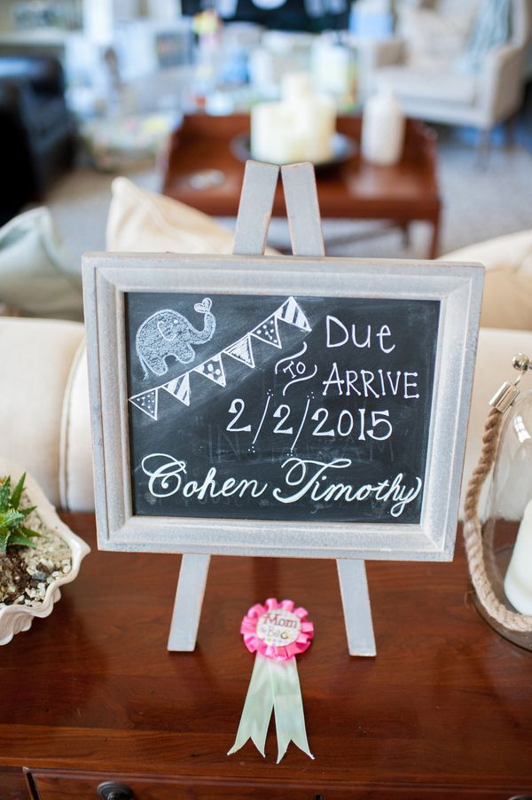 Pin this 6 Tips for a Simple Elephant Baby Shower - Kate Aspen Blog