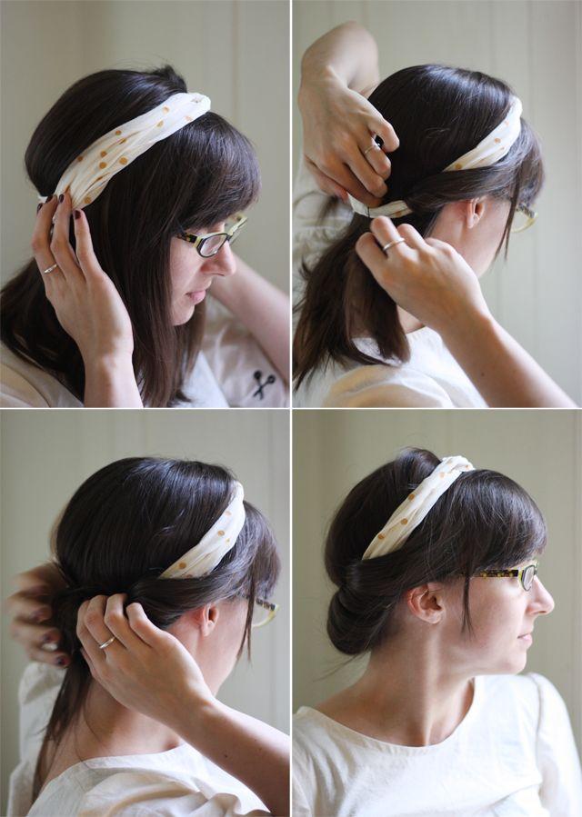 DIY holiday headband and hairstyle tutorial