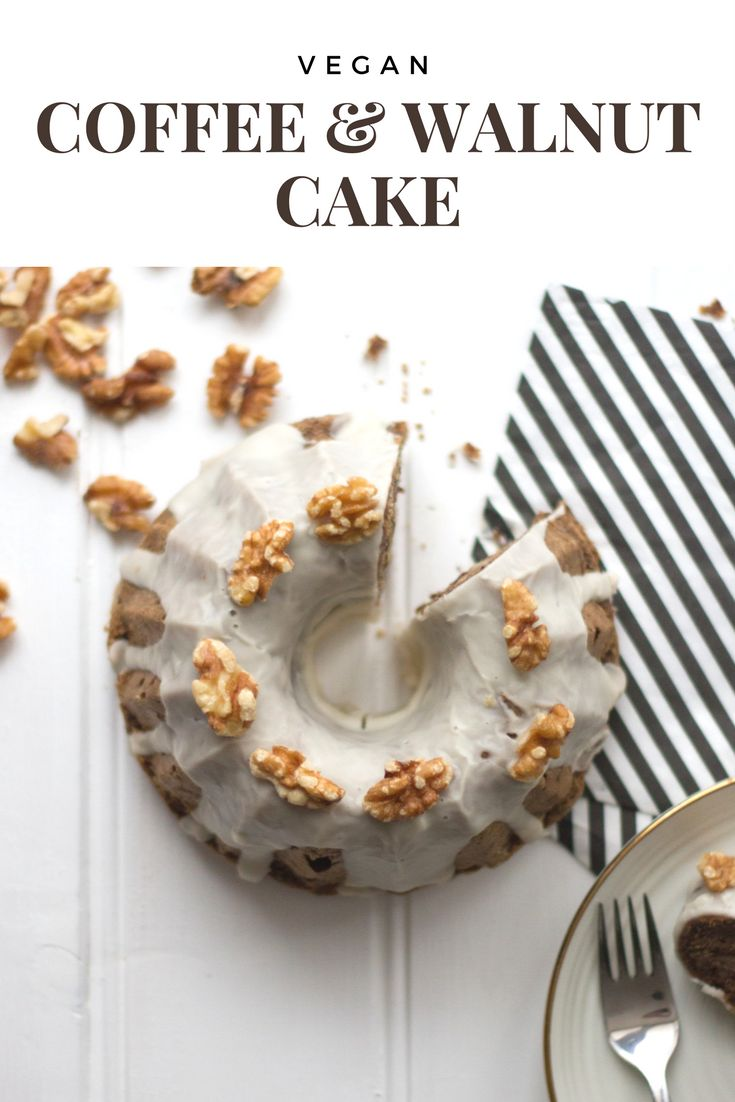 Vegan Coffee Walnut Cake Recipe  Find more recipes on www.romylondonuk.com