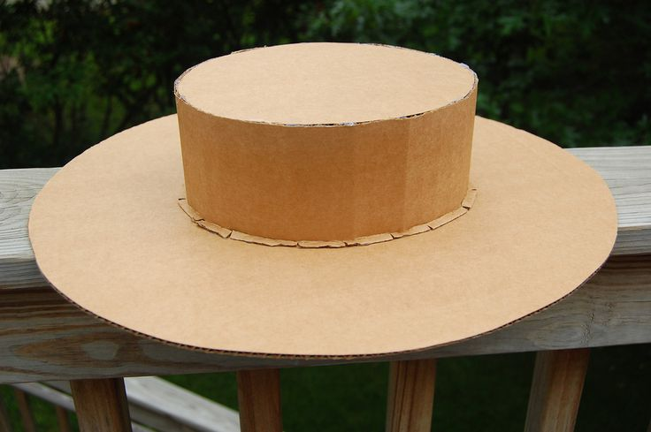Flat boater hat