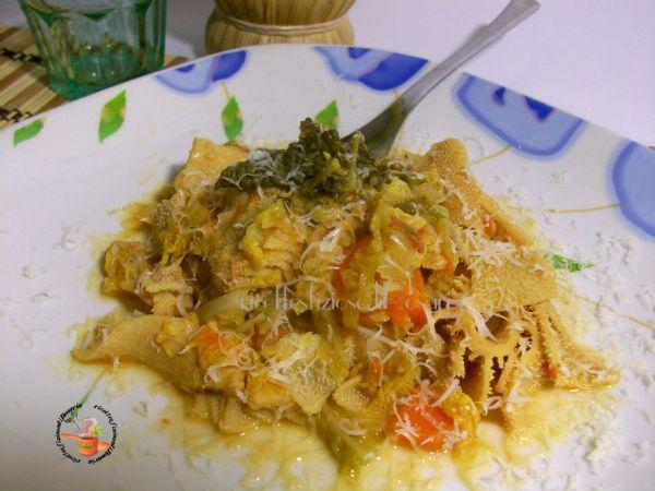 Trippa con verza - ricetta secondo saporito ed economico