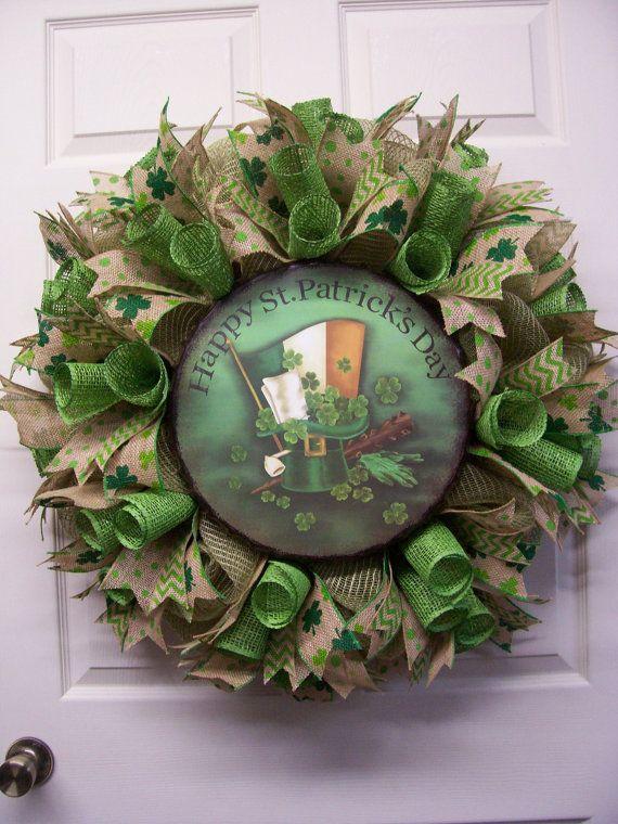 Saint Patrick's Day WreathHappy ST. Patrick's by CherylsCrafts1
