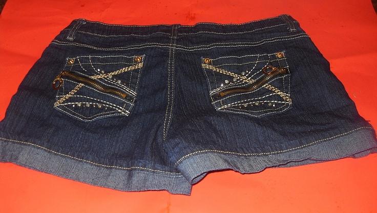 Girls South Pole Cuff Denim Shorts