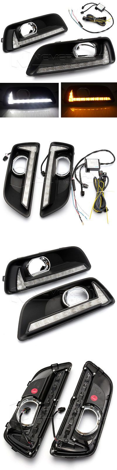 Motors Parts And Accessories: 2X Driving Led Daytime Running Light Drl Fog Lamp For Chevrolet Malibu 2011-2015 BUY IT NOW ONLY: $119.99