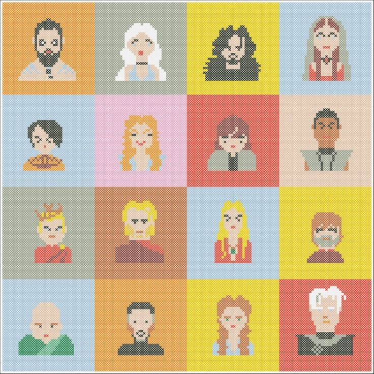 BOGO FREE! Cross stitch-Game of the Thrones -Jon Arya Sansa Daenerys Varys Tyrion-pdf cross stitch pattern - pattern instant download #235 by Rainbowstitchcross on Etsy