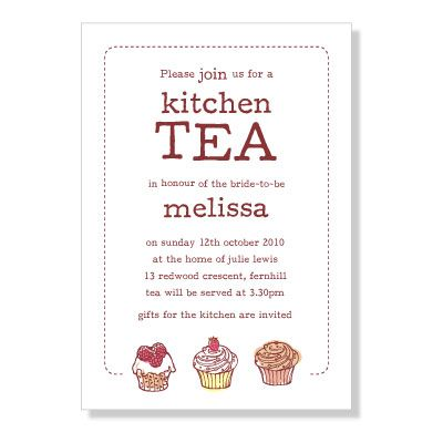 9 best kitchen tea images on pinterest kitchen tea invitations cupcake kitchen tea invitation stopboris Image collections