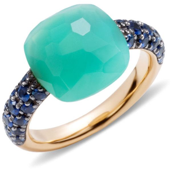 Pomellato Ring Capri (5,305 CAD) ❤ liked on Polyvore featuring jewelry, rings, green, pomellato rings, green jewelry, pomellato, pomellato jewelry and green ring