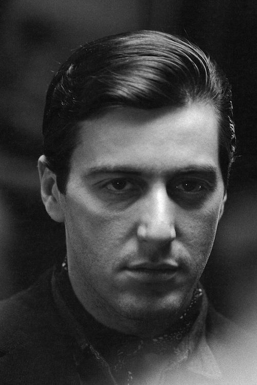Moving over to the dark side... Al Pacino photographed as Michael Corleone. By Steve Schapiro.