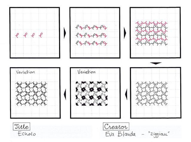 Echolo Zentangle Doodle Pattern <3