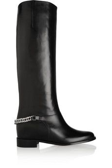 Christian Louboutin Cate chain-trimmed leather riding boots | NET-A-PORTER. ***Fav Louby's!!!!***