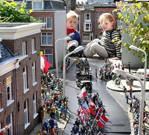 Madurodam, Scheveningen, Holland. Miniature city of Amsterdam on a 1:25 scale.  It was magical to see this as a kid!