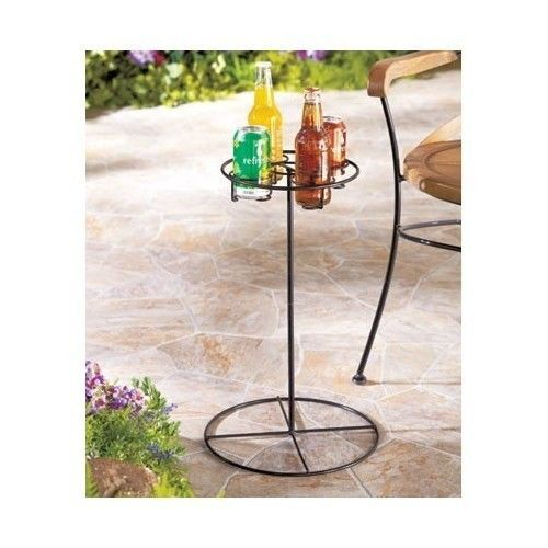 Outdoor Drink Holder Patio Furniture Beverage Stand Table