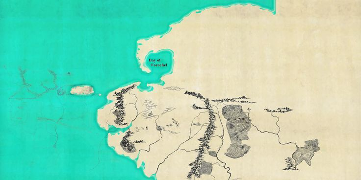 The far north of Middle-earth as depicted in HoMe