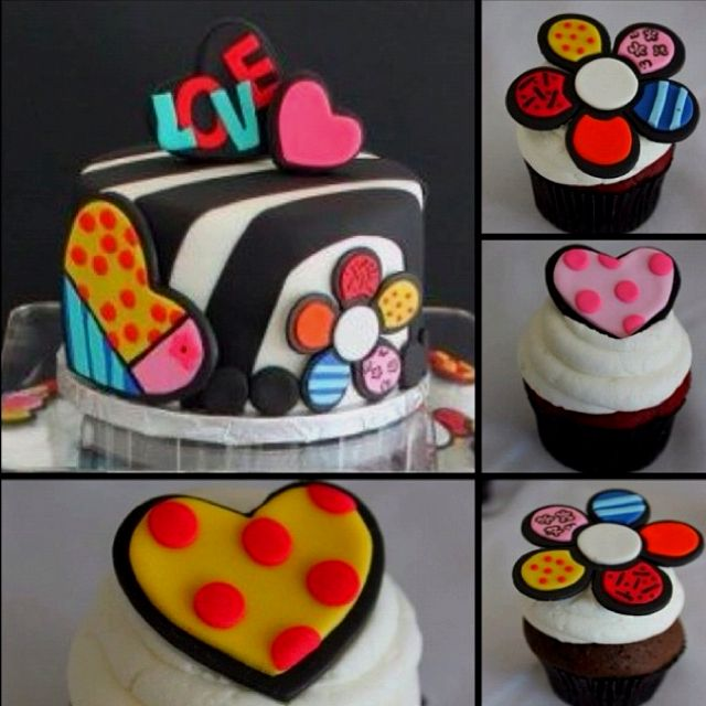 I want this cake for my birthday . Britto themed BDay party this year