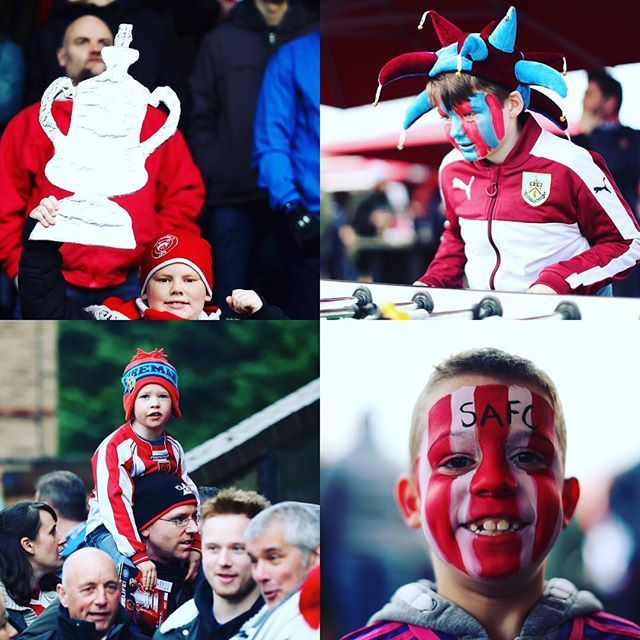 It's 3rd Round weekend in The #FACup in England. The two Manchester clubs are already through, but other young fans are dreaming today that THEIR team will make the headlines. Are you at a game today? Let us know who you're supporting. Good Luck! #David #Goliath #shocks #upsets #history #tradition #thenextgeneration #giantkilling #burnley #sunderland #stourbridge #lincolncity