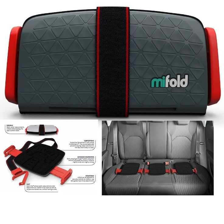 Mifold Booster And Grab Go Car Seat Slate Grey Portable New Compact Designer #mifold