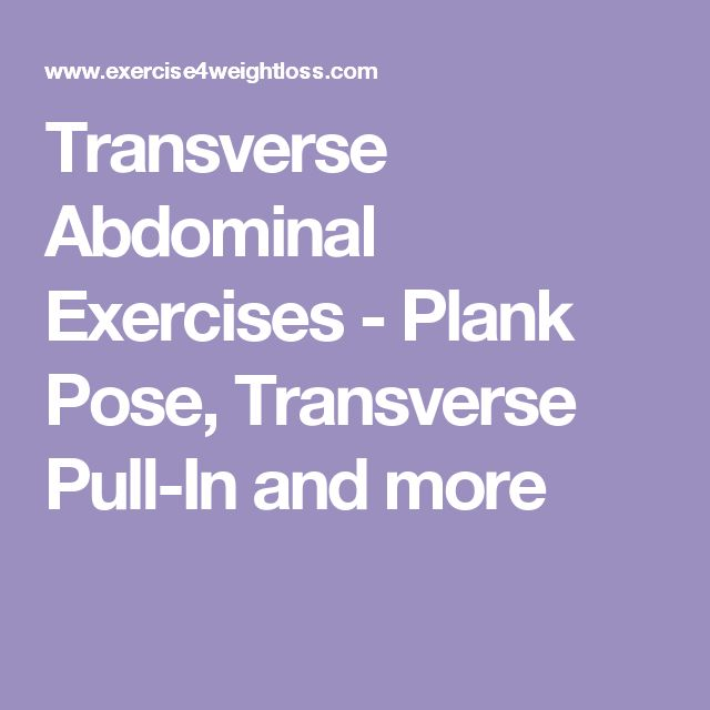 Transverse Abdominal Exercises - Plank Pose, Transverse Pull-In and more