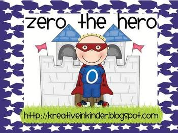 Zero the Hero Classroom Counting Fun!  Counting by 10's has never been more fun!  This packet includes:  Zero the Hero counting to 100 by tens, big and small; calendar numbers; printables for each number; printable class books; homework sheets; decorating numbers printables; and much more!  $