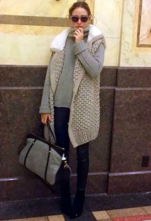 Olivia Palermo wearing Philosophy di Alberta Ferretti Nina Ricci Ballet bag in felt and baby calf