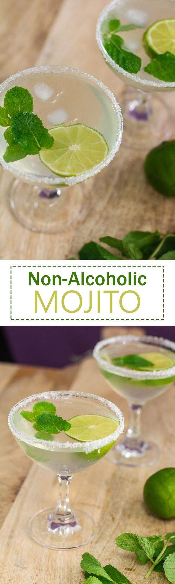 This Non-Alcoholic Mojito combines all of the flavors of the original without you getting drunk. ;)