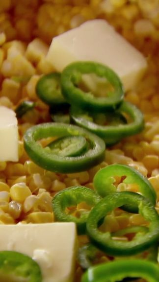 Jalapeno peppers add gusto to corn in this easy slow-cooked side dish.