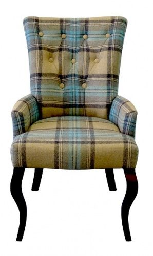 The SALISBURY #feature #chair in a #country #tartan #fabric
