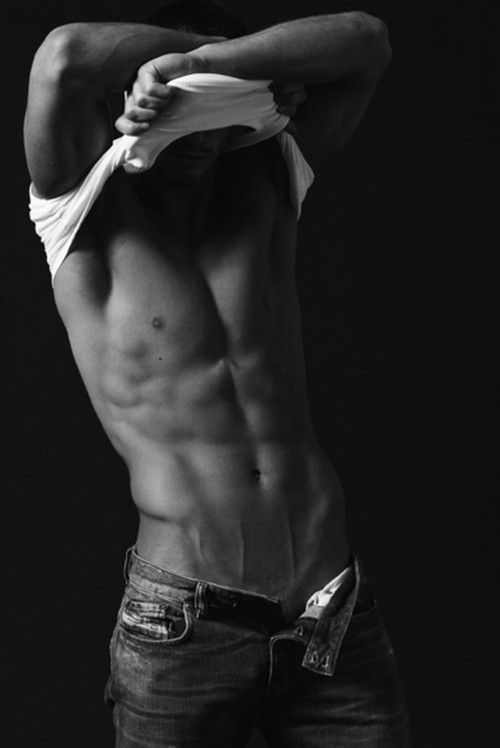 Don't you want to run your hands over those abs? Or lips.